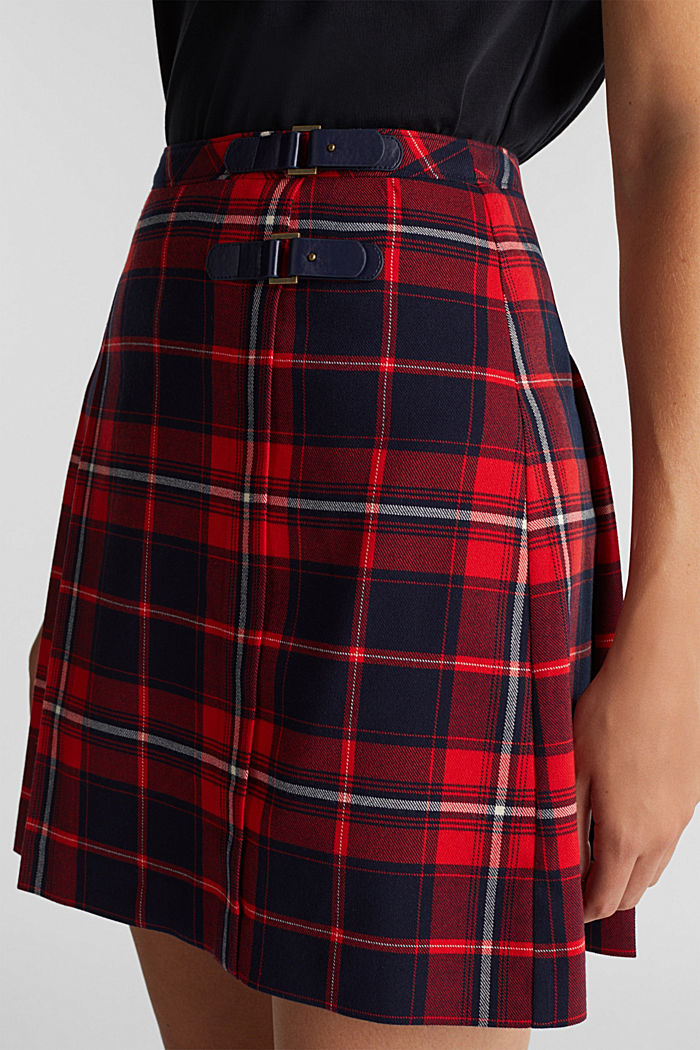 Pleated mini skirt, NAVY, detail image number 2