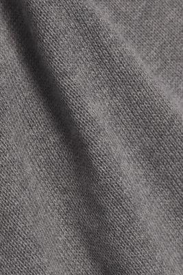 Layered dress with organic cotton, GUNMETAL 5, detail