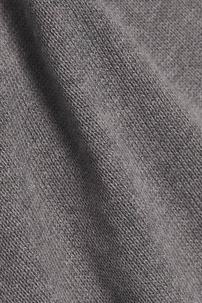 Layered dress with organic cotton, GUNMETAL, detail image number 4