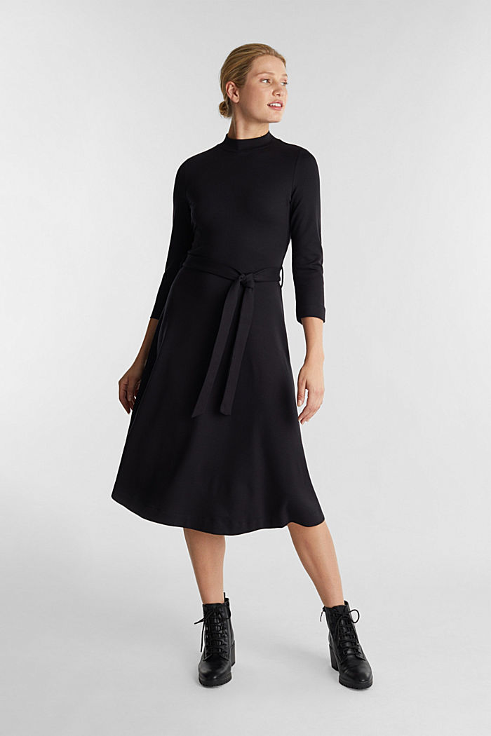 Jersey dress with TENCEL™ lyocell, BLACK, detail image number 0