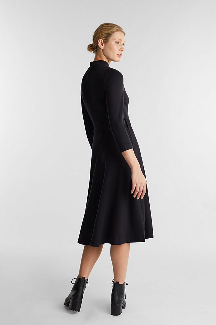 Jersey dress with TENCEL™ lyocell, BLACK, detail image number 1