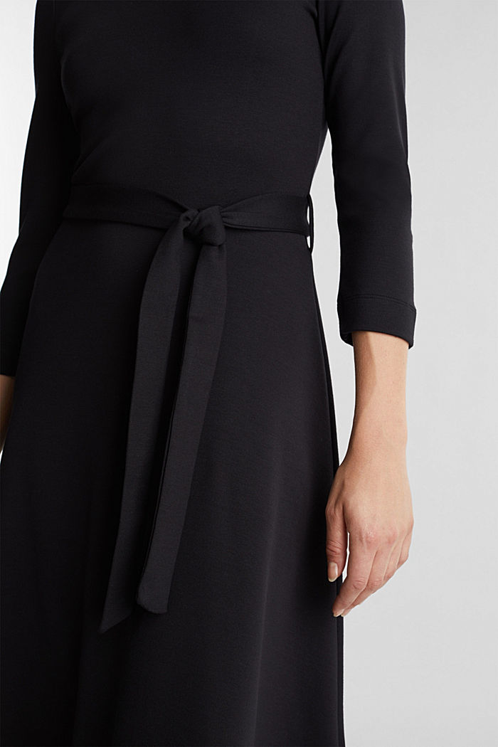 Jersey dress with TENCEL™ lyocell, BLACK, detail image number 2