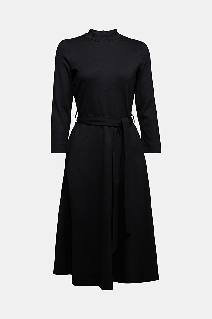 Jersey dress with TENCEL™ lyocell, BLACK, detail image number 4