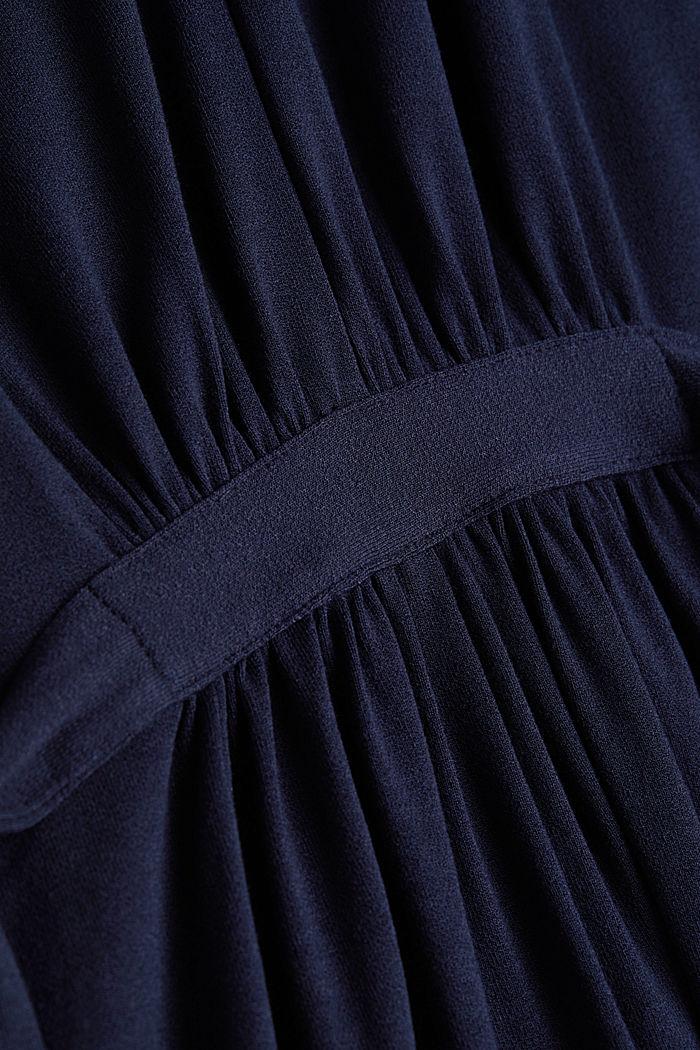 Draped jersey dress, NAVY, detail image number 4