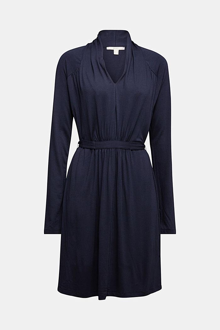 Draped jersey dress, NAVY, detail image number 6
