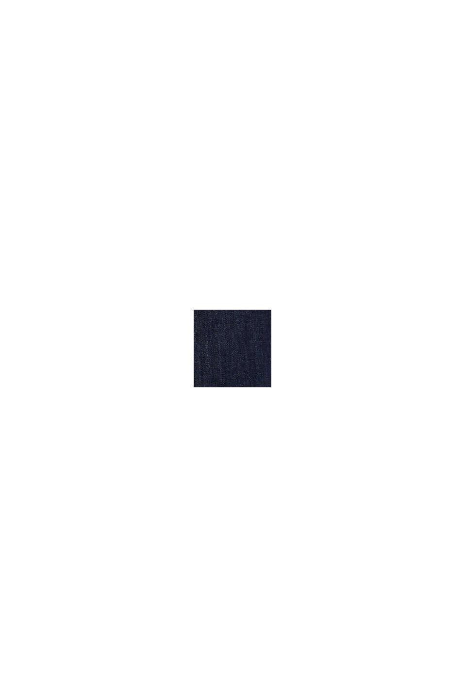 Hemdblusenkleid aus Stretch-Denim, BLUE DARK WASHED, swatch