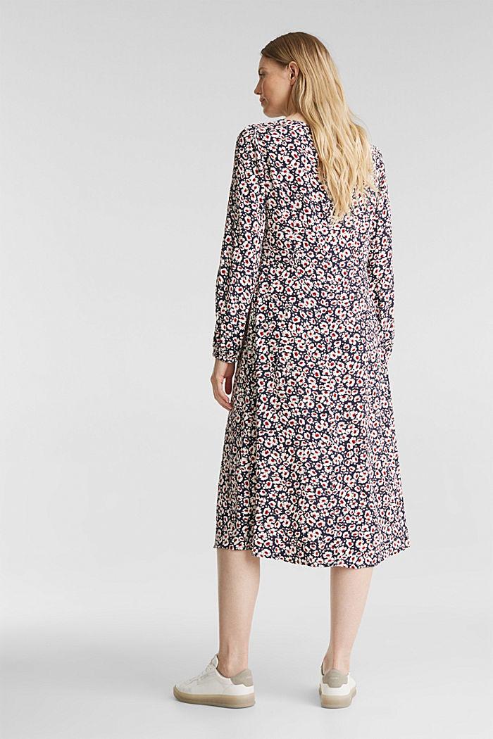 Midi dress made of 100% viscose, NAVY, detail image number 2