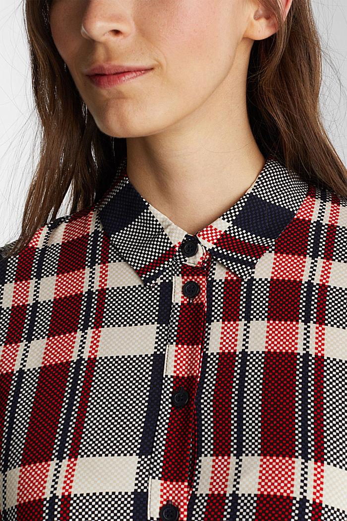 Shirt dress made of LENZING™ ECOVERO™, NAVY, detail image number 3