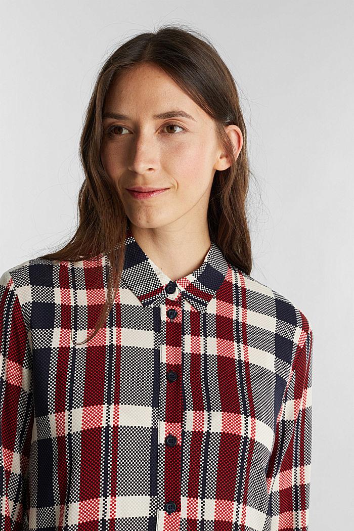 Shirt dress made of LENZING™ ECOVERO™, NAVY, detail image number 6