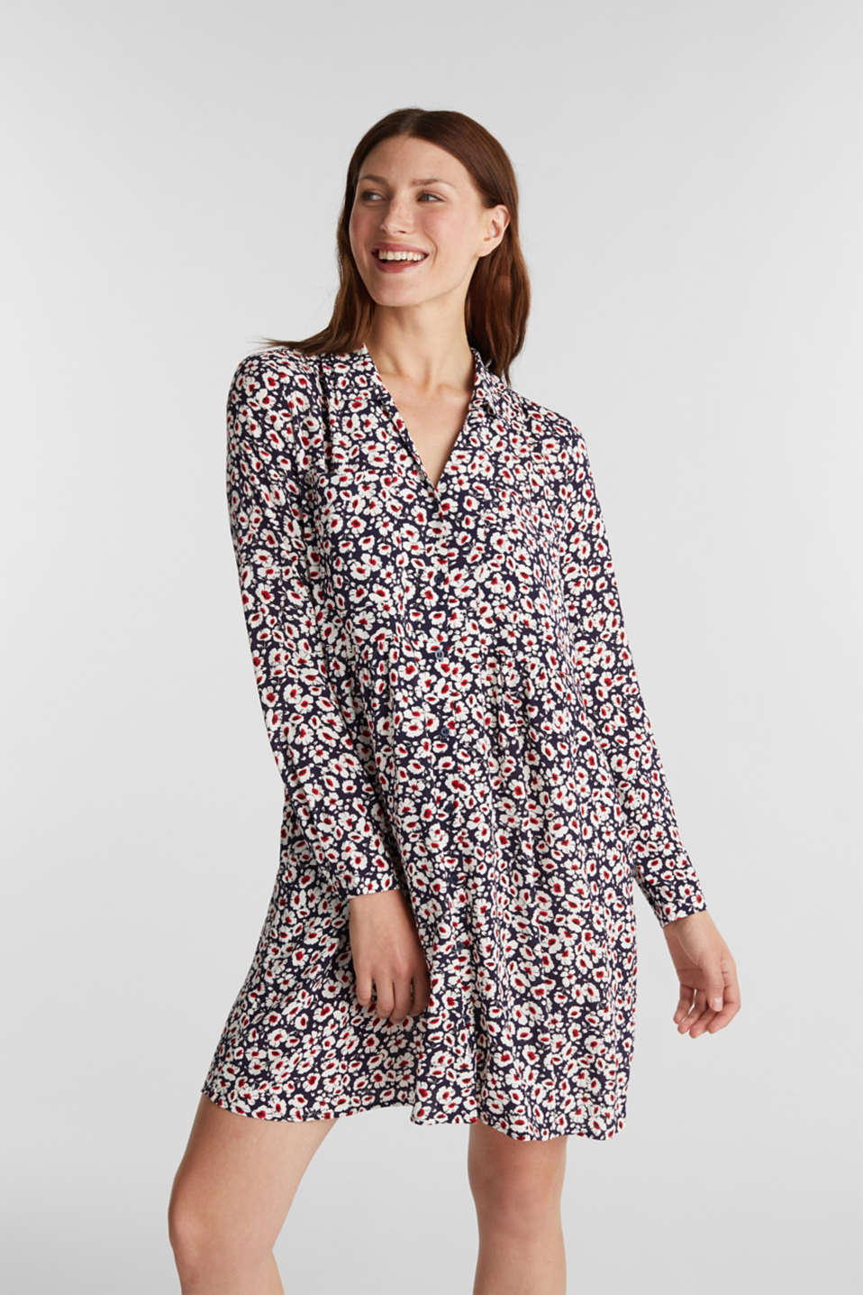 Esprit - Shirt dress in 100% viscose
