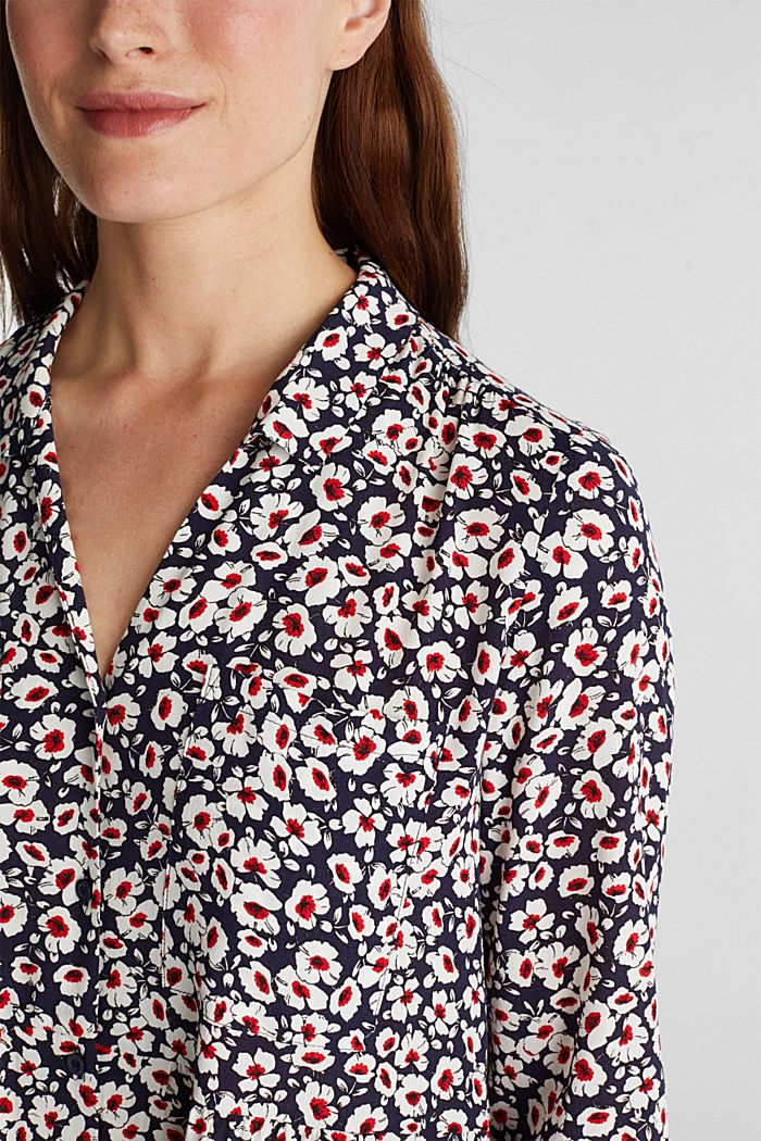 Shirt dress in 100% viscose, NAVY, detail image number 2