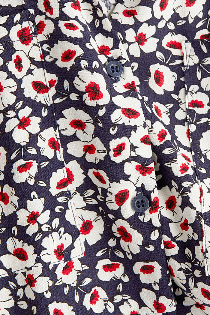 Shirt dress in 100% viscose, NAVY, detail image number 3