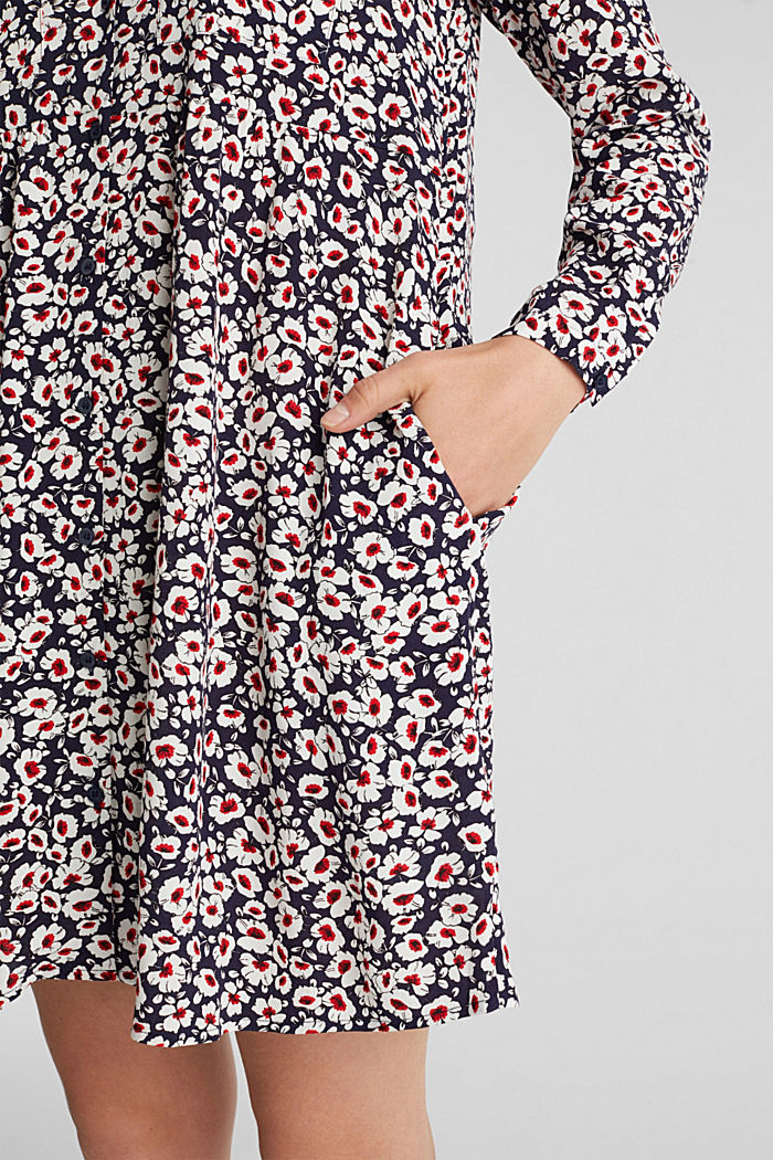 Shirt dress in 100% viscose, NAVY, detail image number 4