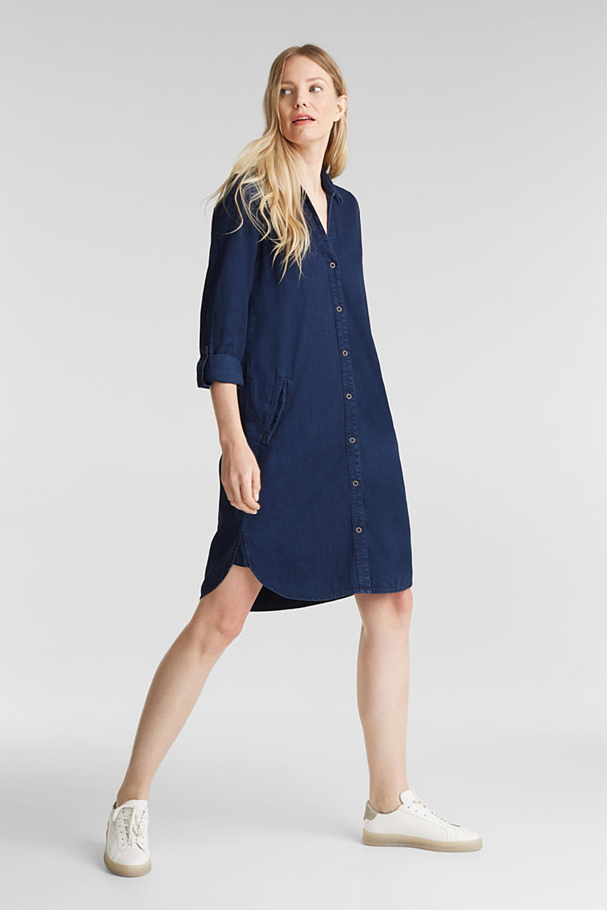 Denim dress in 100% cotton