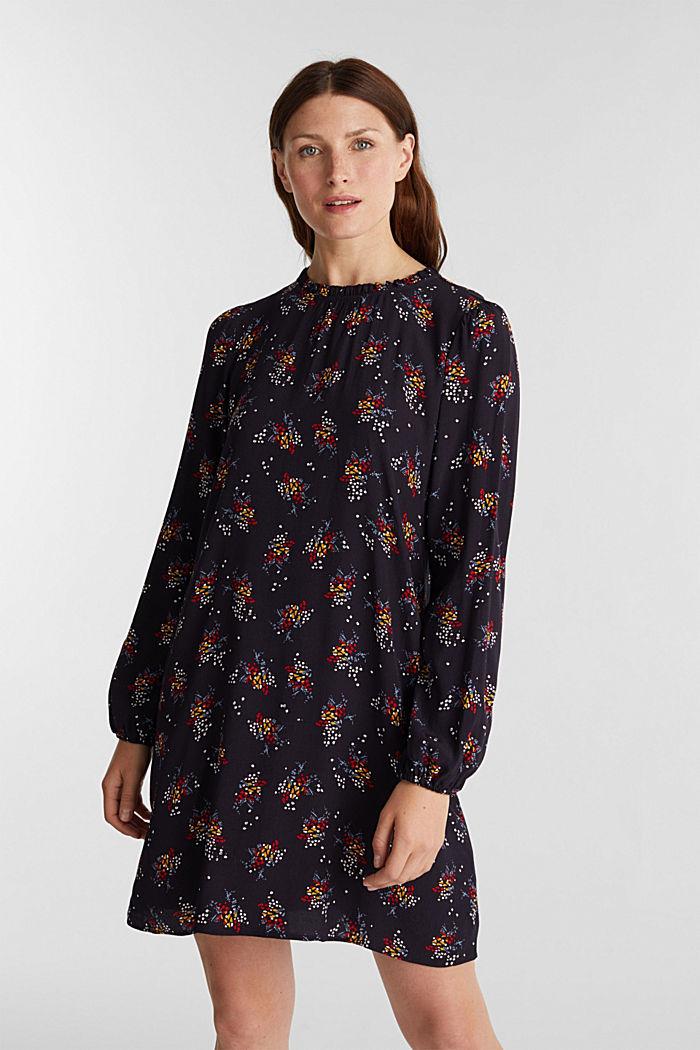 Mini-Kleid mit Blumen-Muster, NAVY, detail image number 0