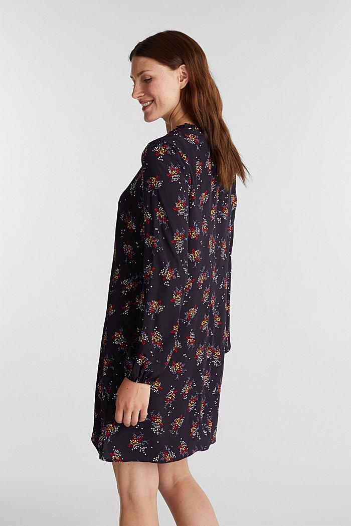 Mini-Kleid mit Blumen-Muster, NAVY, detail image number 2