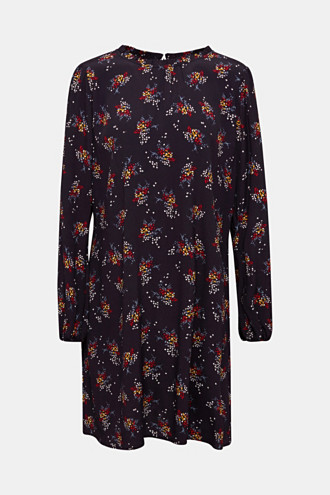 Mini dress with a floral pattern
