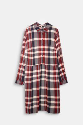 Shirt dress made of LENZING™ ECOVERO™, NAVY, detail