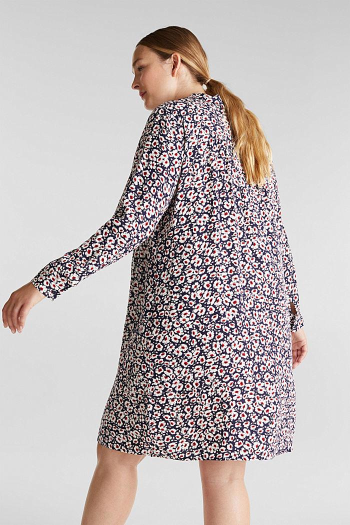CURVY Kleid aus 100% Viskose, NAVY, detail image number 2