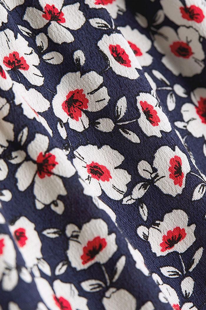 CURVY Kleid aus 100% Viskose, NAVY, detail image number 4