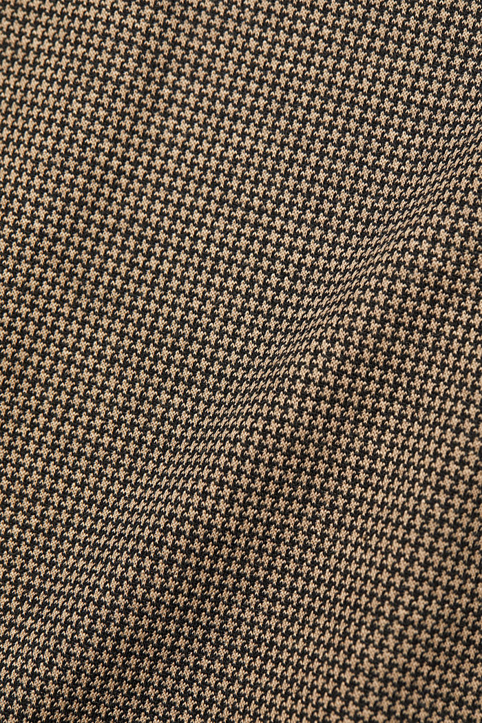 Jersey dress with a houndstooth pattern, CAMEL, detail image number 4