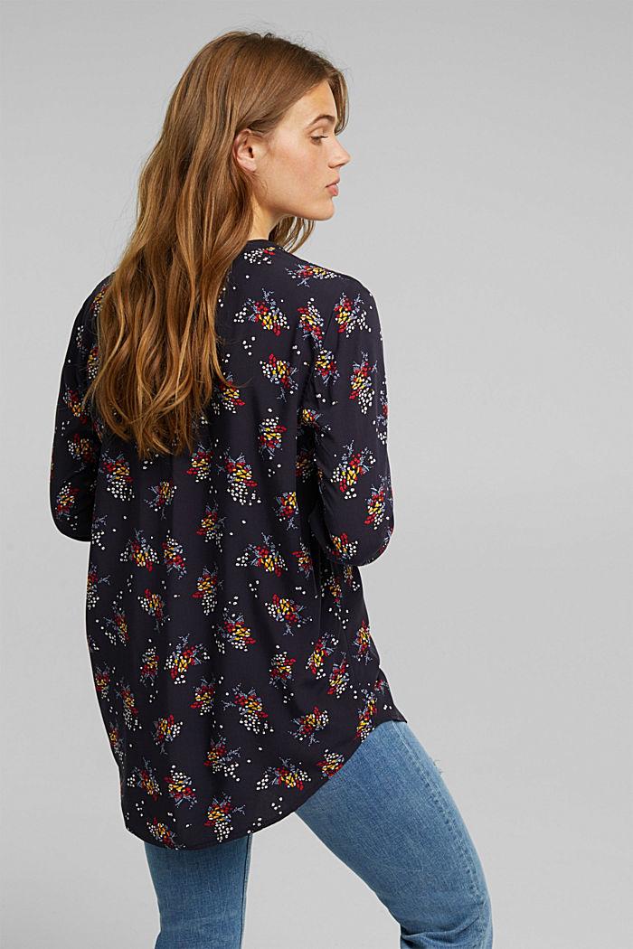 Slip-on blouse made of LENZING™ ECOVERO™, NAVY, detail image number 3