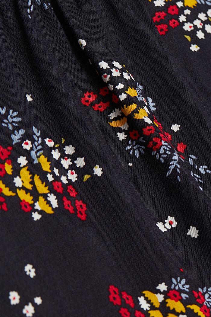 Slip-on blouse made of LENZING™ ECOVERO™, NAVY, detail image number 4