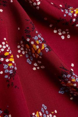 Slip-on blouse made of LENZING™ ECOVERO™, BORDEAUX RED 4, detail