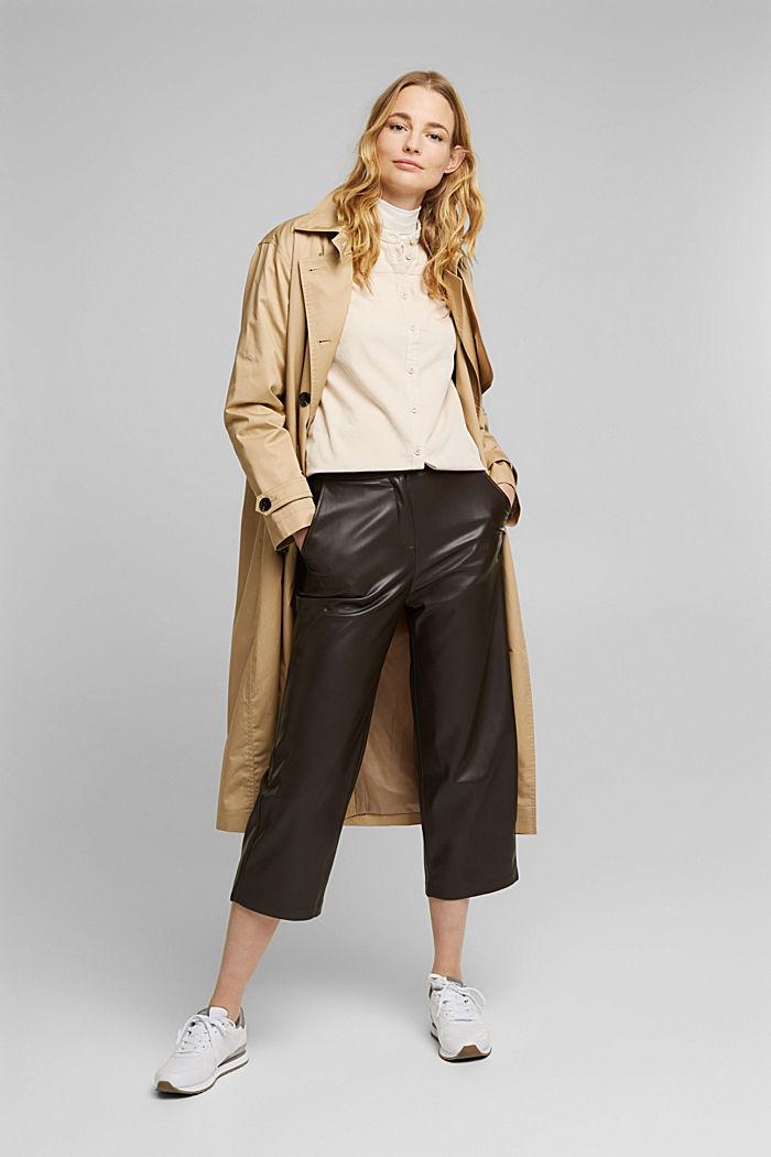 Blusa de pana fina con volantes, algodón ecológico, CREAM BEIGE, detail image number 1