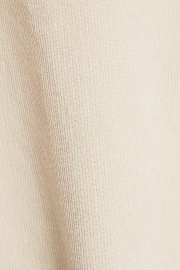 Needlecord blouse with ruffles, organic cotton, CREAM BEIGE, detail image number 4