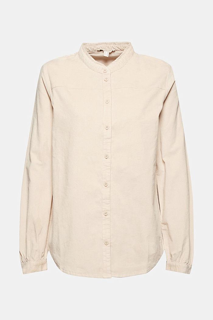 Blusa de pana fina con volantes, algodón ecológico, CREAM BEIGE, detail image number 6