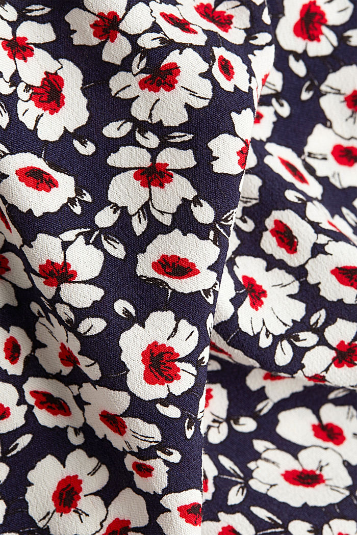 Print blouse with LENZING™ ECOVERO™, NAVY, detail image number 4