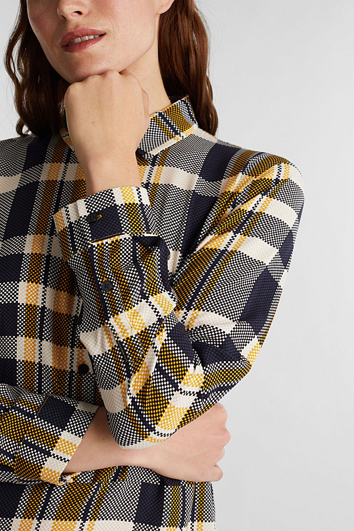 Blouse made of LENZING™ ECOVERO™, BRASS YELLOW, detail image number 2