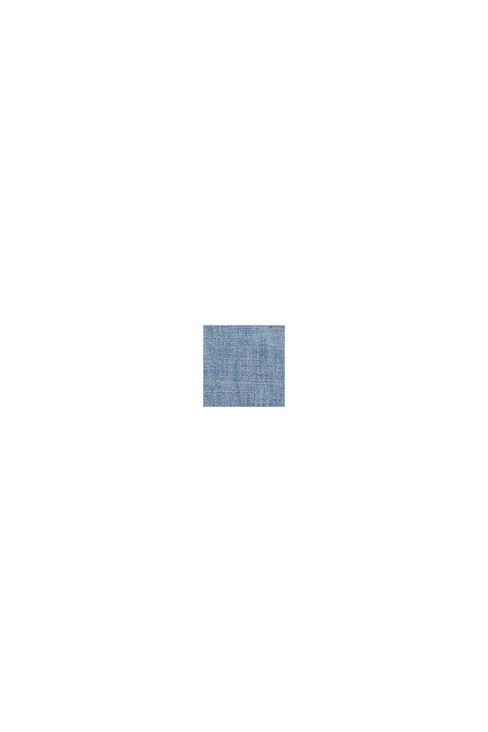 Bluzka chambray z bawełną organiczną, GREY BLUE, swatch