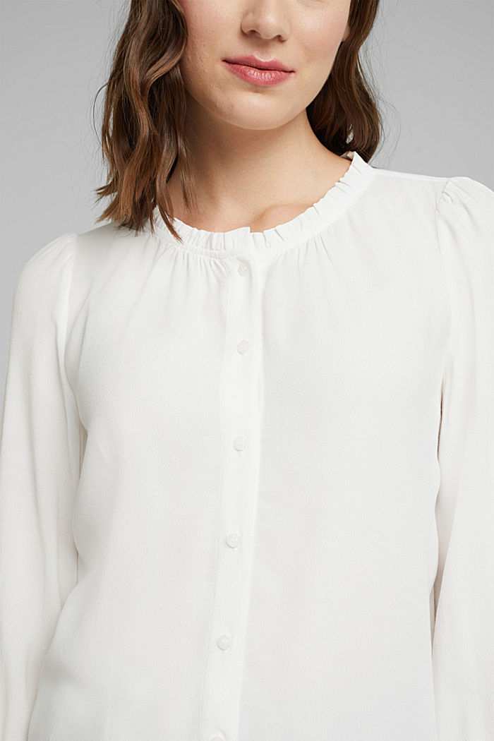 Blouse made from LENZING™ ECOVERO™, OFF WHITE, detail image number 2