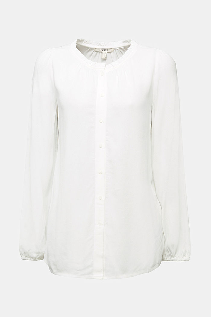 Blouse made from LENZING™ ECOVERO™, OFF WHITE, detail image number 7