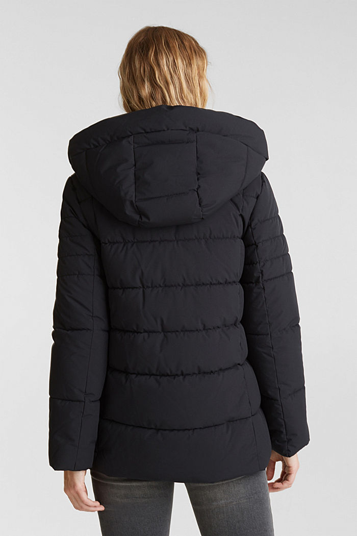 Recycled: quilted jacket with a hood, BLACK, detail image number 3
