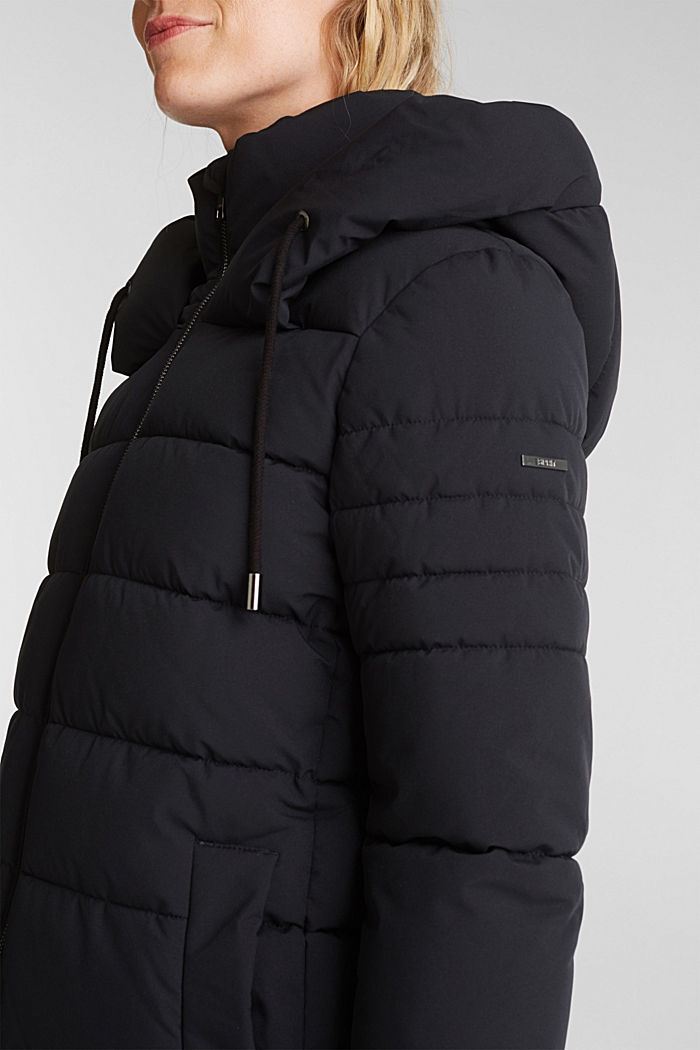 Recycled: quilted jacket with a hood, BLACK, detail image number 2