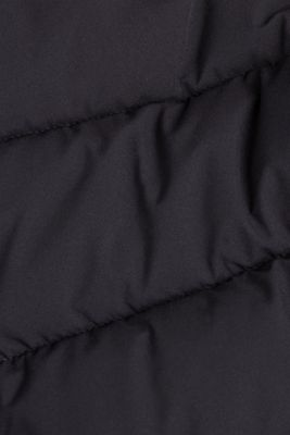 Recycled: quilted jacket with a hood, BLACK, detail