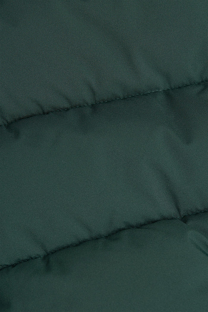 Recycled: quilted jacket with a hood, DARK GREEN, detail image number 4