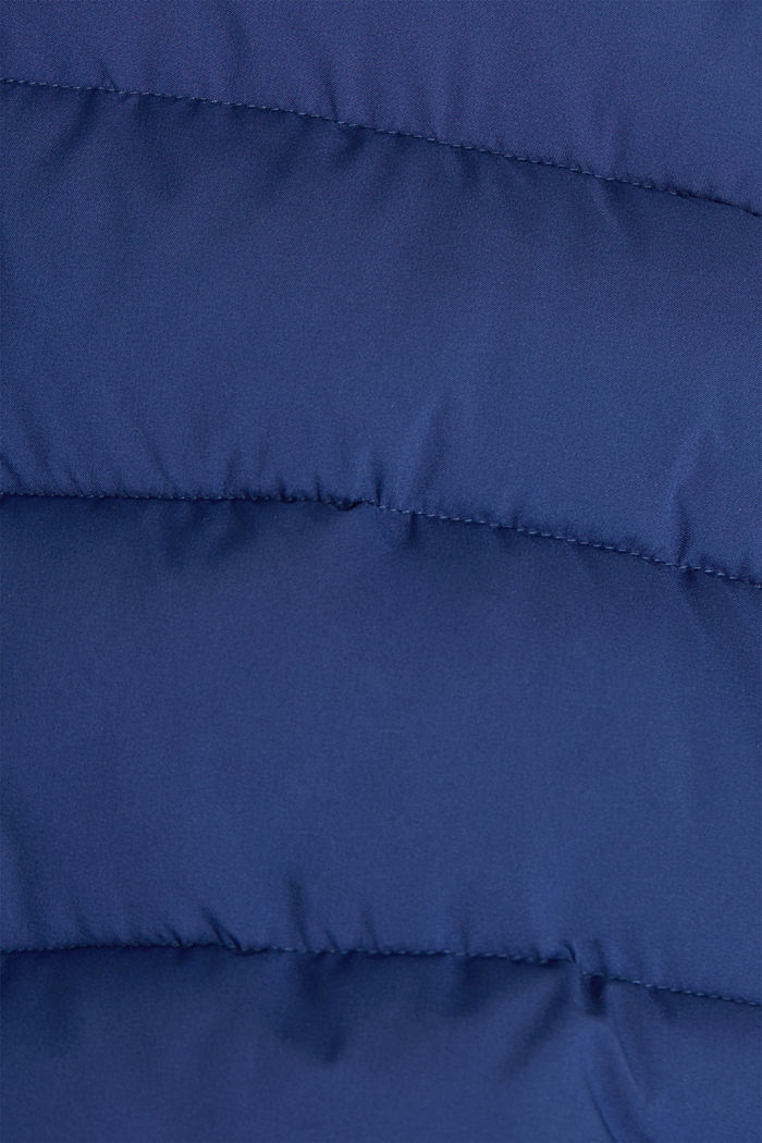 Recycled: quilted jacket with a hood, DARK BLUE, detail image number 4