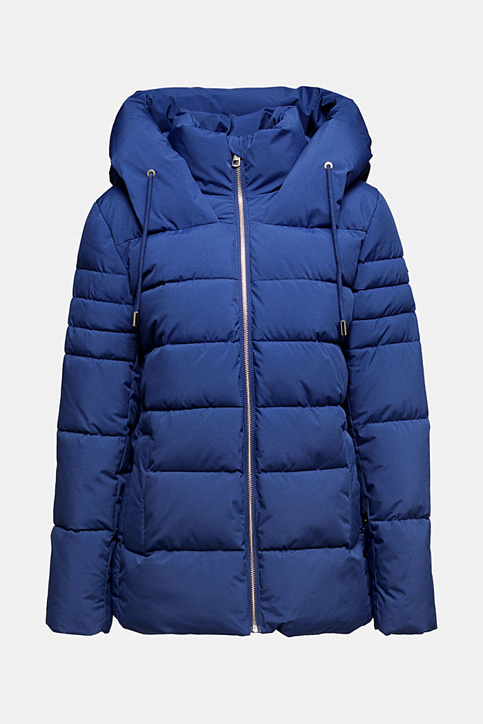 Recycled: quilted jacket with a hood, DARK BLUE, detail image number 7
