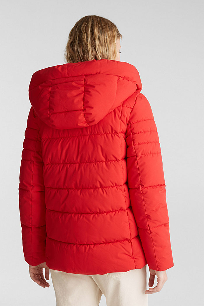 Recycled: quilted jacket with a hood, RED, detail image number 3