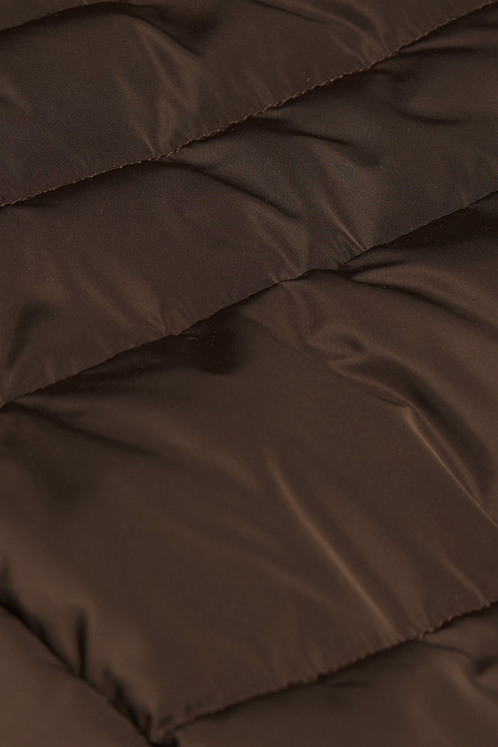 Quilted jacket with 3M™ Thinsulate™ padding, DARK BROWN, detail image number 4