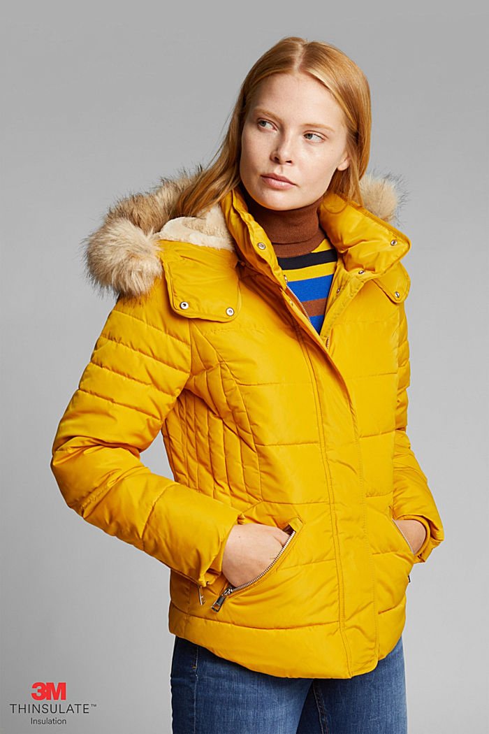 Quilted jacket with 3M™ Thinsulate™ padding, BRASS YELLOW, detail image number 0