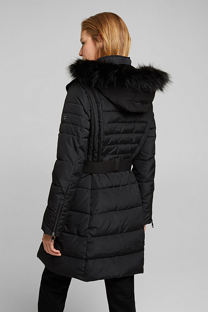 Recycled: Coat with 3M™ Thinsulate™ filling, BLACK, detail image number 3