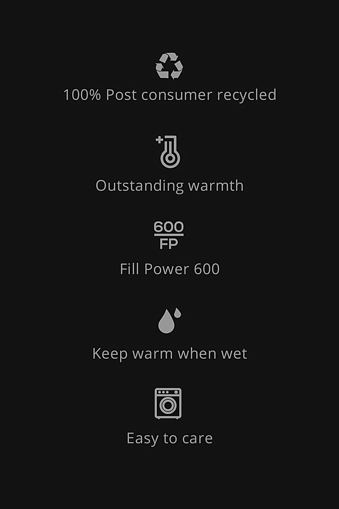Recycled: Coat with 3M™ Thinsulate™ filling, BLACK, detail image number 5