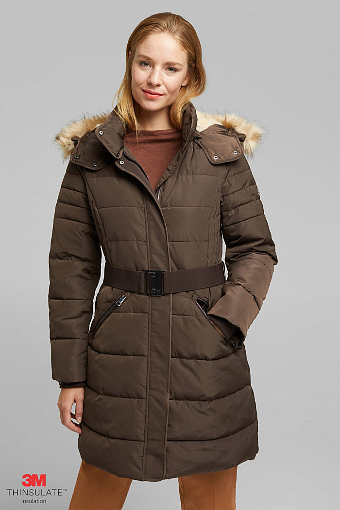 Recycled: Coat with 3M™ Thinsulate™ filling, DARK BROWN, detail image number 0