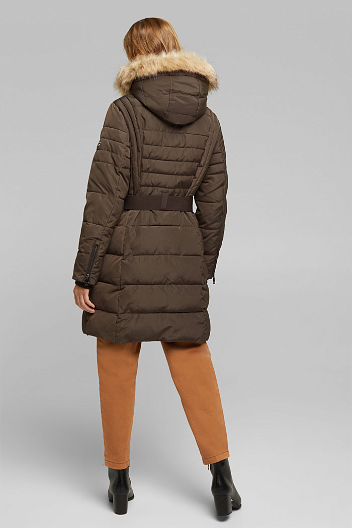 Recycled: Coat with 3M™ Thinsulate™ filling, DARK BROWN, detail image number 3