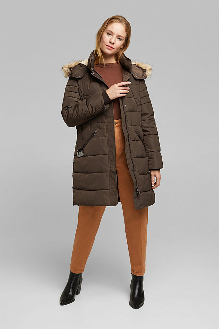 Recycled: Coat with 3M™ Thinsulate™ filling, DARK BROWN, detail image number 1